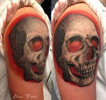 Skull tattoo - Dino Tomic by AtomiccircuS