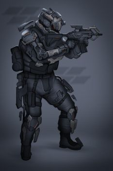 Commission: Fractured Nation Soldier by VincentiusMatthew