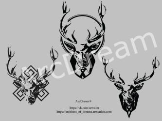 Deer-logo concept by Architect-of-Dreams
