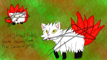 (CLOSED) Christmas Felpis Free Adoptable by RosyandScourge