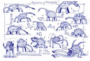 Radiation of Pentapods by MickMcDee
