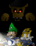 Luigi and Tails in FNAF by Thesimpleartist4
