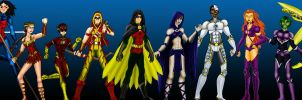 Teen Titans roster by Valor1387