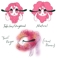c-d: florges hair headcanons