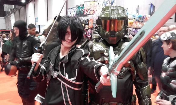 Kirito and the Master Chief by Xx-DarkCrimson-xX