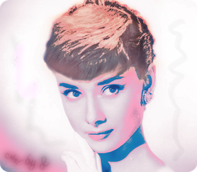 Audrey Hepburn colored by Fap-material