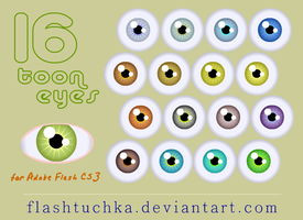 16 Vector Cartoon Eyes by flashtuchka