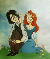 Severus and Lily - Muchacha10 by aulophobia