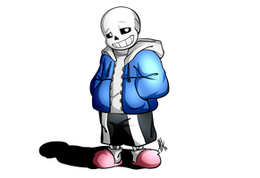 Let's Draw Sans (Speed Drawing Video) by Smudgeandfrank