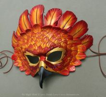 Fire Eagle Leather Mask by windfalcon