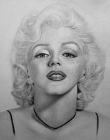 Marilyn Monroe (Unfinished) by NettysArt