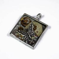 Steampunk Butterfly Pendant 6 by Create-A-Pendant