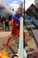 Supergirl refuses to kneel before Zod by 5red
