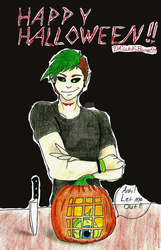 Pumpkin Carving with Antisepticeye by WolfsBane54