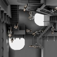 Escher - relativity - 2 by faelle