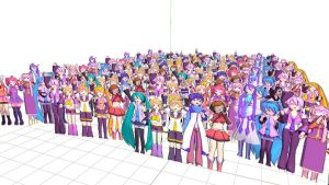Paper Crowd DL Pack (Model and Motions Included) by Yagakoro