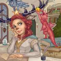 Galactic Faun with Ornaments by Daniel-Daimon