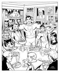 A Marvel Family Thanksgiving by Gene Gonzales by LittleJohn312