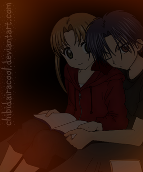 reading time Mikan x Natsume by ChibiDairacool
