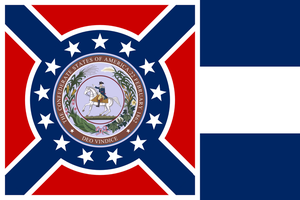 Standard of the President of Dixie by AlternateHistory