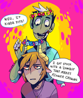 Zombies and Flower Crowns... by Koolaid-Girl