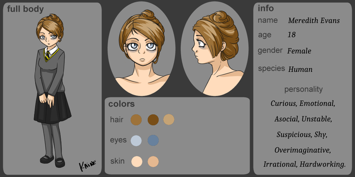 Character Sheet Meredith Evans by Kaine-chan