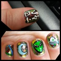 Extraterrestrial Nail Art by erarebirth