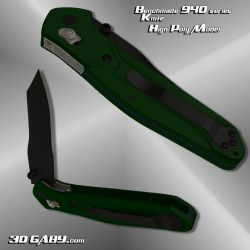 Switch Blade Knife 3D model by 3dgaby