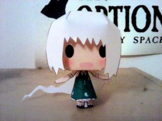 Youmu's papercraft ^_^ by Merengil