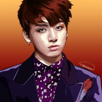 My Vector Portrait of BTS Jungkook *revised* by YnnaChan