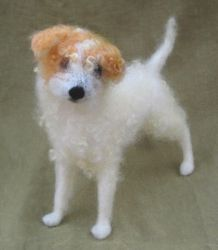 Felted Dog, scruffy mutt by HStiLeS