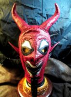 Leather Red Devil Hood by LeatherHead72