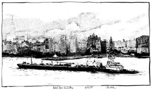 Hudson River - Manhattan in the morning by RoodyN