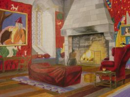Gryffindor common room by aleyed