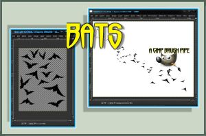 Gimp Animated Bats by Geosammy