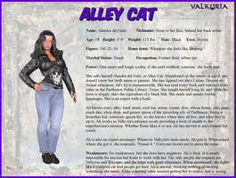 Alandra del Gato - Alley Cat Character Card by Nathanomir