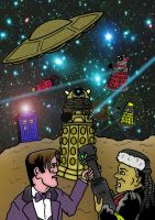 Doctor Who/Red Dwarf Comic Book -  Artwork 2 by mikedaws