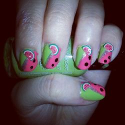 Fimo Decal Nail Art by Luna-child