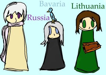 Russia, Bavaria, and Lithuania - The Skype RPers by MothMask