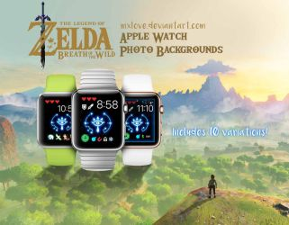 Breath of the Wild Apple Watch Backgrounds x10 by mxlove