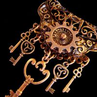 Cabaret Copper Cogs Necklace by Om-Society