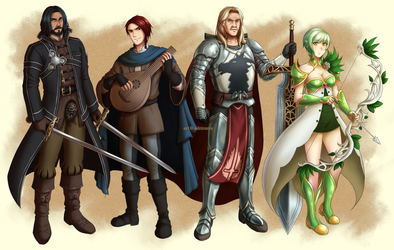 CM: Dungeons and Dragons Party by adricarra