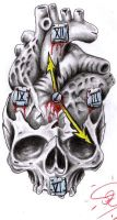 time s up for the skulls heart by Robert-Franke