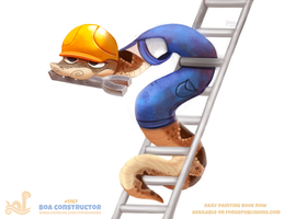Daily Paint 1767# Boa Constructor by Cryptid-Creations