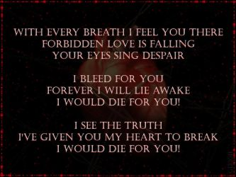 BVB Die For You Lyrics by GD0578