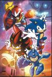 Sonic/Mega Man team up pic by Tracy Yardley by dth1971