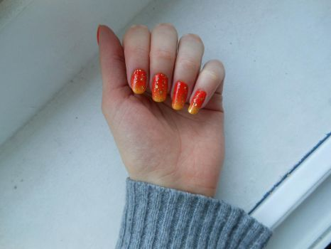 Sunset Nails #1 by steponecomplete