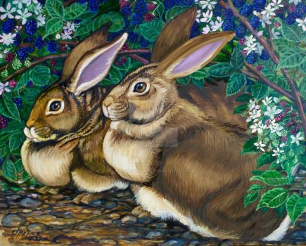 Flemish Giant Rabbits by HouseofChabrier