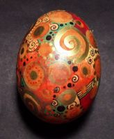 Coffee dyed painted egg by MandarinMoon