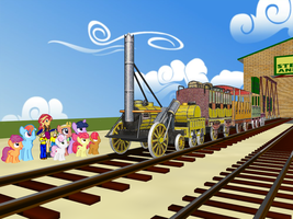 Stephenson's Rocket in Equestria by Tonypilot